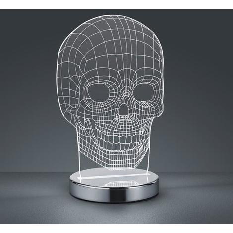 Lampe led Trio Skull Chrome Métal - Verre R52461106