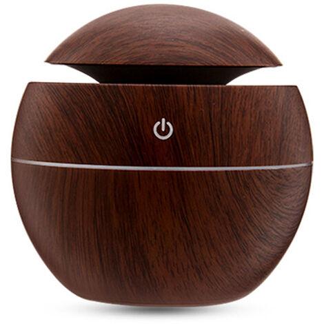 Lampe LED USB Portable grain de bois Nuit Mini Humidificateur maison Purificateur d'air Home Office Machine aromatherapie, cafe