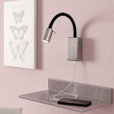Lampe LED USB Tazzoli H30 cm - Nickel - Nickel