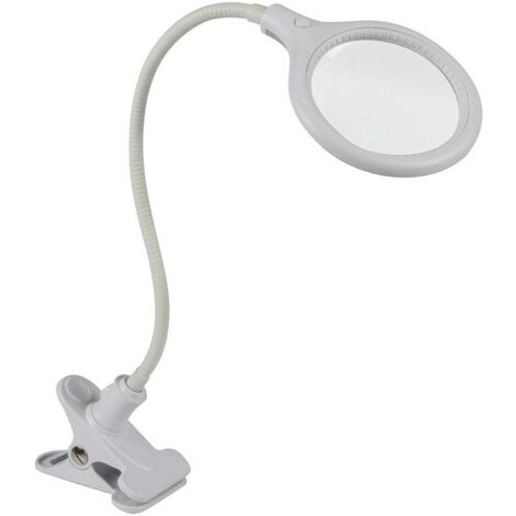 Lampe-loupe LED avec pince Velleman VTLLAMP10 2,25 x (5 dioptries) N/A