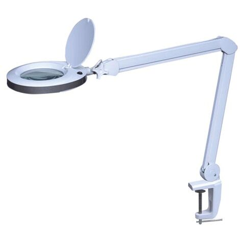 Lampe-loupe LED étau lentille 120 mm 8 dioptries (80 LEDS)