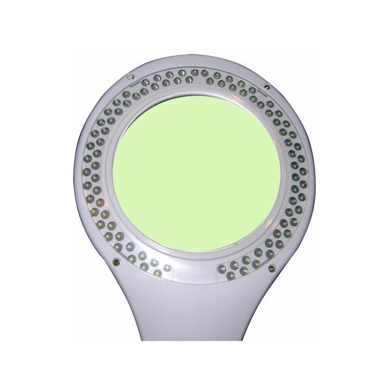 Lampe-loupe LED étau lentille 127 mm 8 dioptries (90 LEDS) 5 Watts