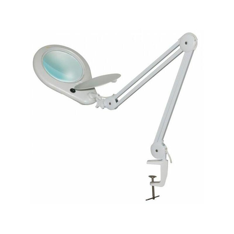 Electris - Lampe-loupe LED étau lentille 177 mm, 5 dioptries (108 LEDS), 7 Watts