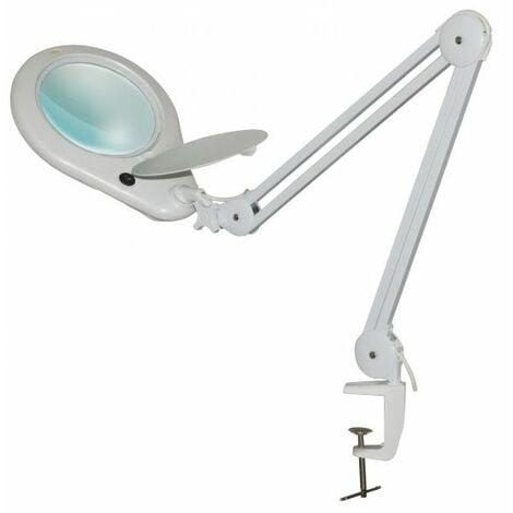 Lampe-loupe LED étau lentille 177 mm, 5 dioptries (108 LEDS), 7 Watts