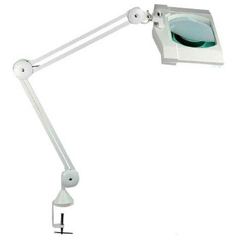 Lampe loupe lumineuse + pince de table