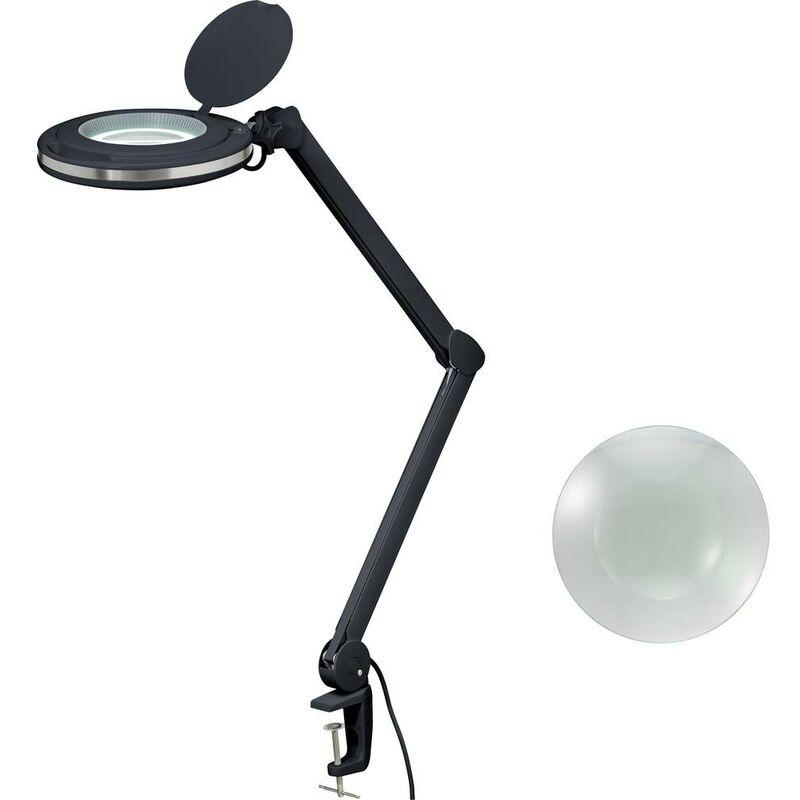 Toolcraft 2178611 Lampe Loupe Led Noire 5 127 Mm Avec Support De Fixation 8D 3X