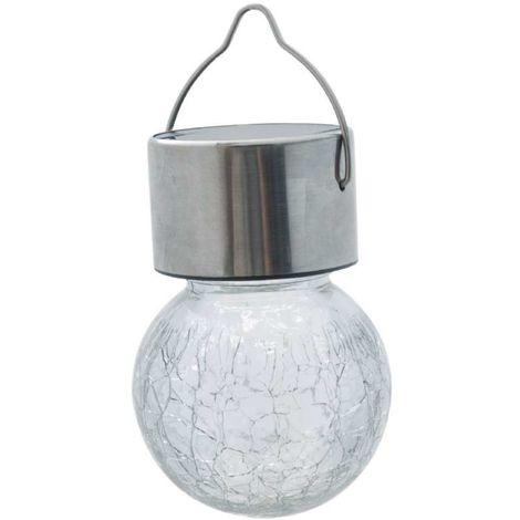Lampe multicolore solaire inox à suspendre ProGarden