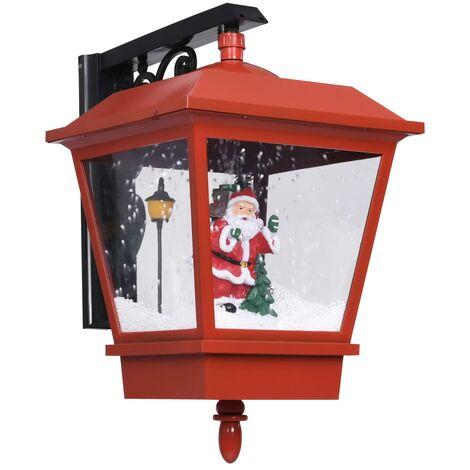Lampe murale de Noël lumières LED et Père Noël Rouge 40x27x45cm