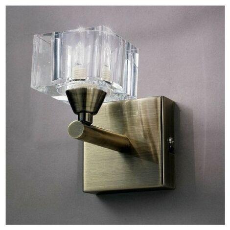 Lampe Murale Laiton Cubic - Doré