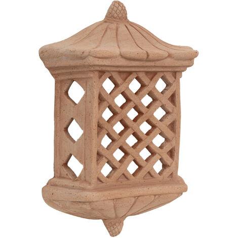 Lampe murale lanterne à accroche applique à suspendre en terre cuite 100% Made in Italy pour jardin extérieur et intérieur