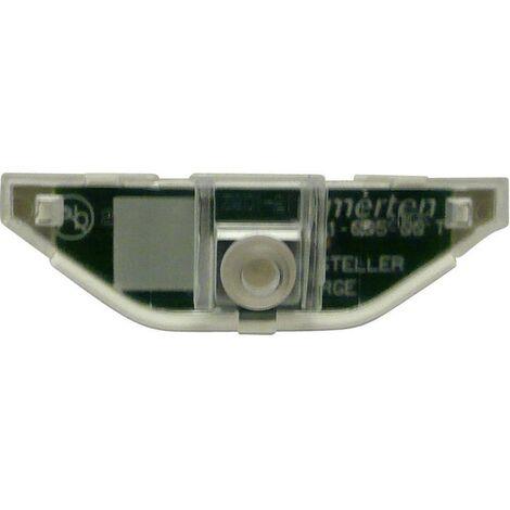 Lampe néon à LED Merten MEG3901-0006 System M, System surface, Aquadesign rouge