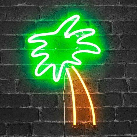 Néon Jaune Vert Palmier Lampe Et 8nPNwkXZ0O