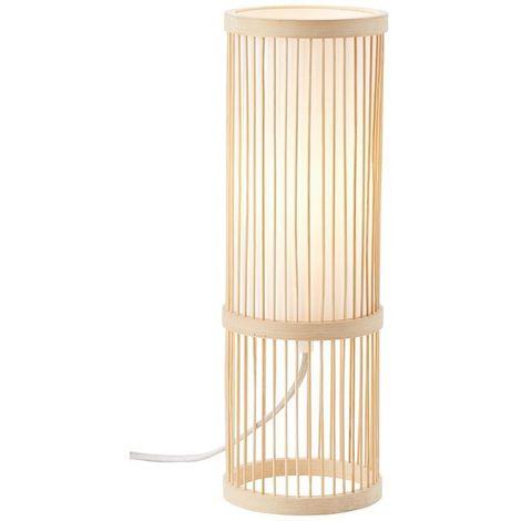 Lampe NORI 1x40W E27 Bambou-blanc