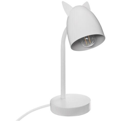 Lampe oreilles métal blanc