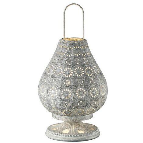 Lampe Orientale Argent Kamilah - Argent