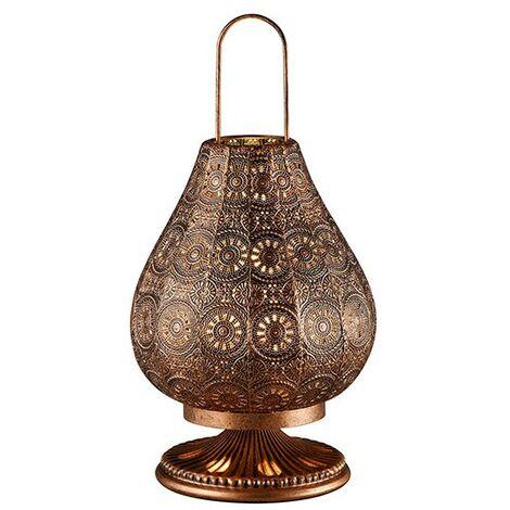 Lampe Orientale Cuivrée Kamilah - Marron