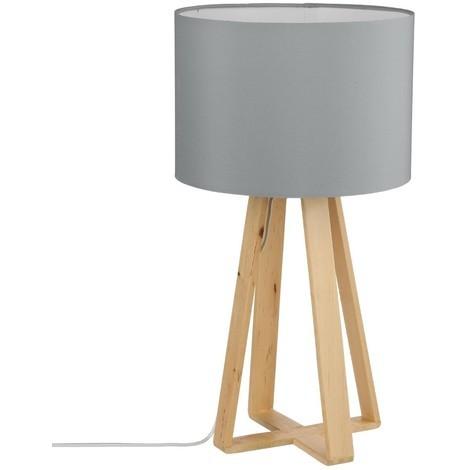 Lampe pied en bois H47.5