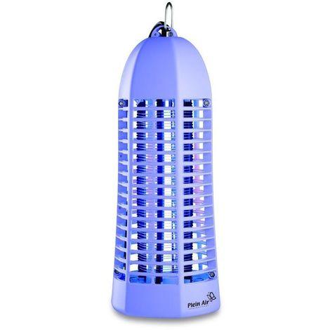 Lampe piege anti moustique et insectes PLEIN AIR violet laqué - Décharge électrique 1000V - Champ action 20 m2
