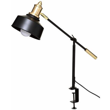 Lampe pince métal Flower noir H54 - Noir