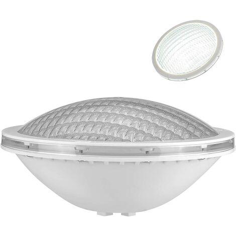 Lampe Piscine PAR56,18W Spot Piscine Etanche IP68 LED de Piscine Submersible Lumière 12V DC/AC,6000K Blanc Froid