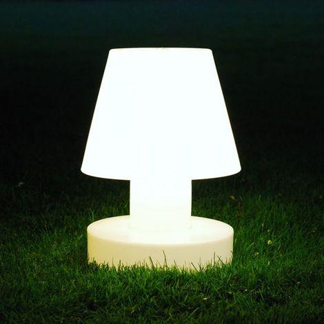 Lampe portable 28 cm sans fil BLOOM - Blanc - Intérieur - Relevable