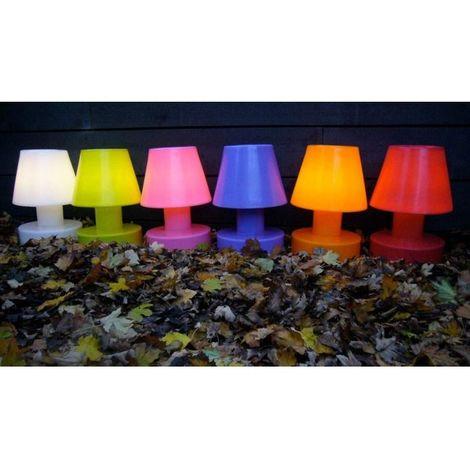 Lampe portable 28 cm sans fil BLOOM - Orange - Intérieur - Relevable