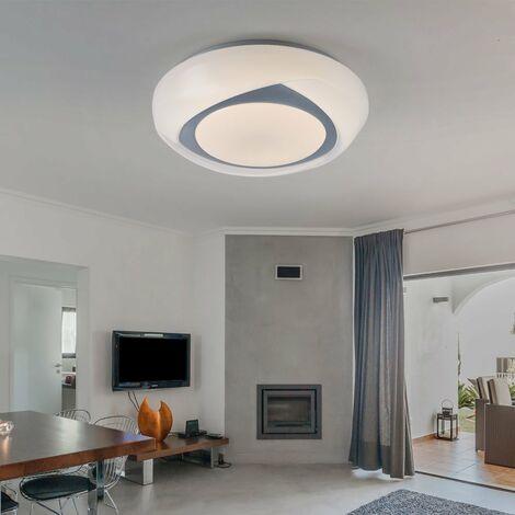 Plafonnier Métal Blanc Lampe Led Malik Pratique En BerxdCWQoE