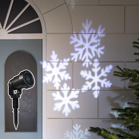 Lampe Projecteur Led Noel Effet Flocons De Neige Blancs Pour Exterieur