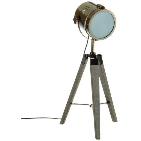 Lampe projecteur métal/bois Ebor Atmosphera