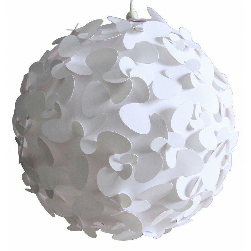 Meubletmoi - Lampe Puzzle à poser ou suspendre diamètre 45 - Blanc