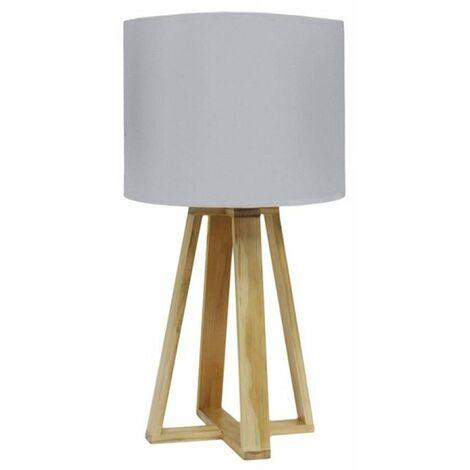 Lampe scandinave pied bois gris - Gris