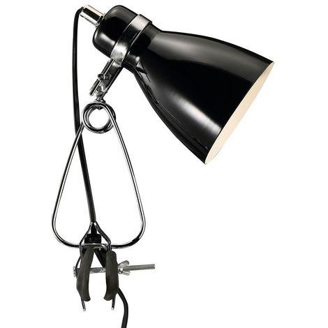 Lampe serre-fils luminaire de lecture éclairage noire bureau cabinet travail