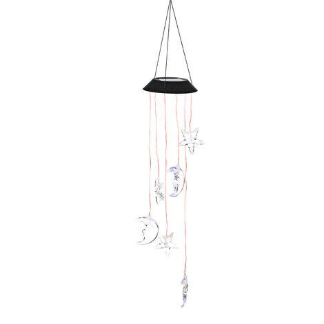 Lampe solaire de carillon de vent a changement de couleur LED IP65 lune etanche