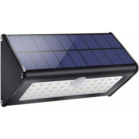 Lampe solaire de jardin LITZEE 1100lm 4500mAh lampes solaires pour extérieur avec détecteur de mouvement infrarouge étanche IP65, 4 modes intelligents pour jardin, portail, mur, lumière blanche