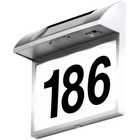Lampe solaire DEL numéro de la maison éclairage luminaire extérieur IP44 porte