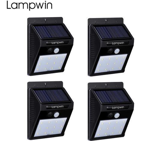 Étonnant Lampe Solaire Extérieur 12 LED Imperméable avec Détecteur de MQ-89