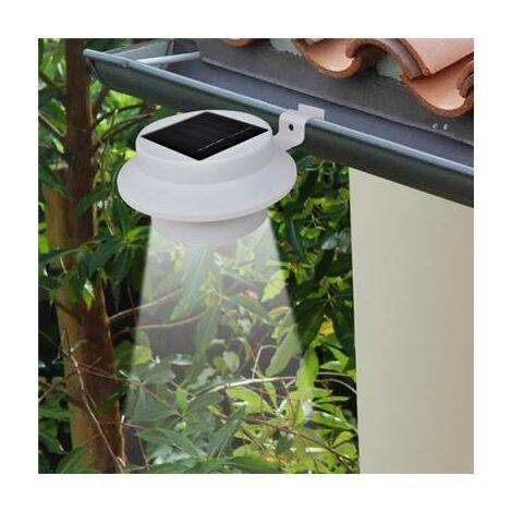 Lampe solaire extérieur jardin blanche lot de 6 pièces