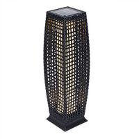 Noir Aux Lampe Jardin Panneau Polyrotin 25 Led Solaire Résistante Intempéries Ip44 70cm Robuste VGSMpLqUz