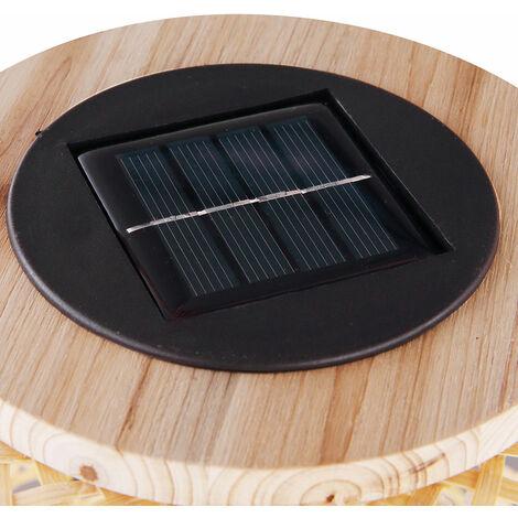 Lampe solaire LED, design bambou, hauteur 56,5 cm