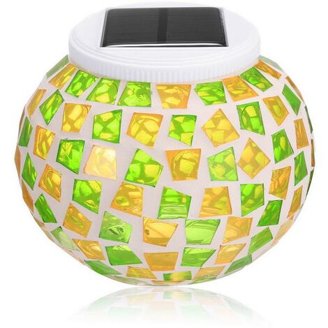 lampe solaire LED Imperméable à l'eau verre alimenté Décor lumière changeant de couleur