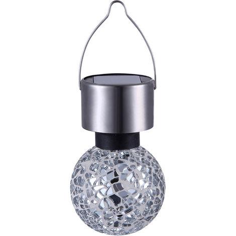 Lampe solaire LED luminaire suspension éclairage DEL acier inoxydable mosaïque miroir