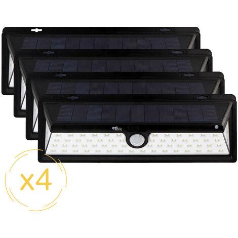 Lampe solaire LED murale EZIlight® Solar xl - Pack de 4 lampes