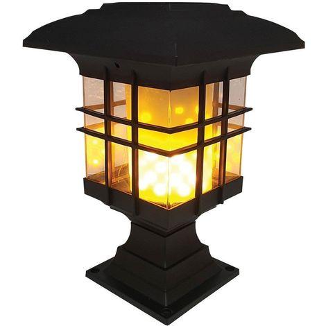 Lampe solaire pour jardin effet flamme