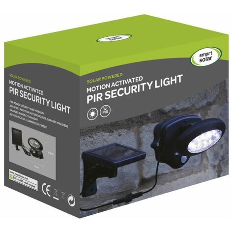 Lampe spot solaire 10 led avec détecteur