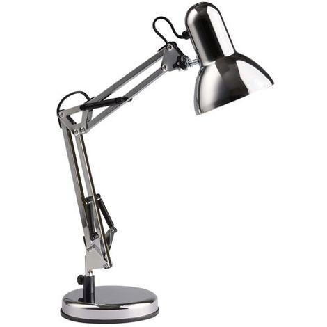 Lampe style architecte HENRY 1x28W E27 CHROME