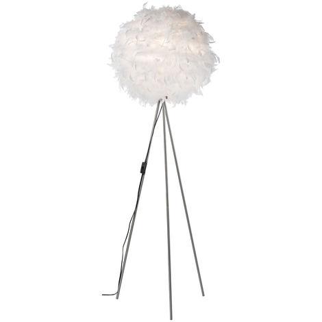 Lampe sur pied design avec abat-jour en plumes de canard DUCKY