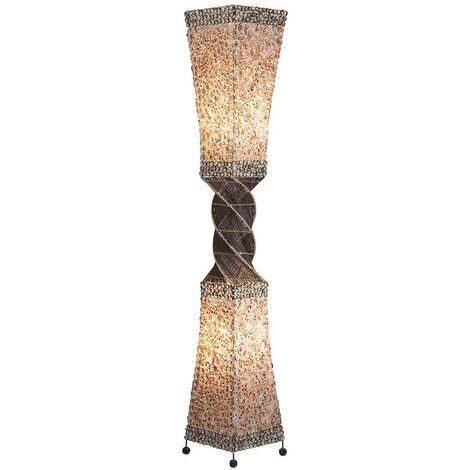 Lampe sur pied design design luminaire rotin textile salon éclairage