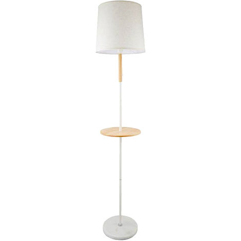 Lampe sur pied design plafonnier en textile beige lampe sur pied en marbre blanc Projecteur EUYO708
