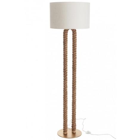 LAMPE SUR PIED EN FORME DE U JUTE NATUREL