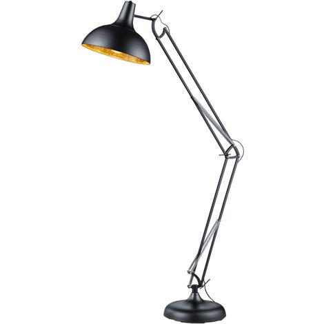 Lampe sur pied réglable en hauteur Lampe sur pied BLACK GOLD Spot mobile dans un ensemble comprenant un illuminant LED